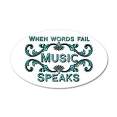 Music Speaks Wall Decal