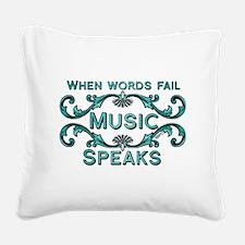 Music Speaks Square Canvas Pillow