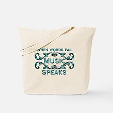 Music Speaks Tote Bag