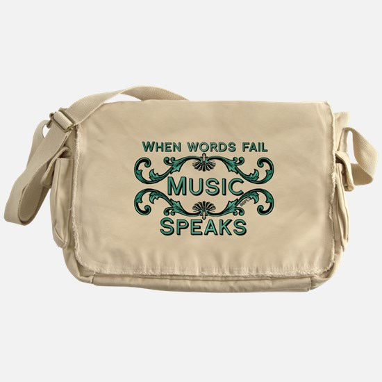 Music Speaks Messenger Bag