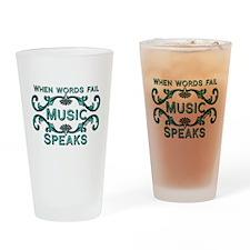 Music Speaks Drinking Glass
