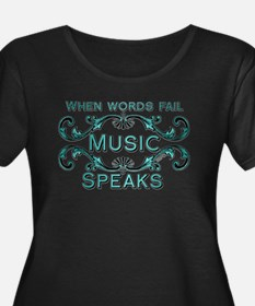 Music Speaks Plus Size T-Shirt