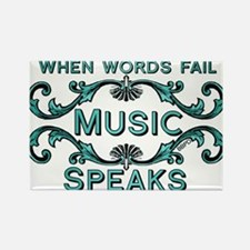 Music Speaks Magnets