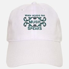 Music Speaks Baseball Baseball Baseball Cap