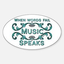 Music Speaks Decal
