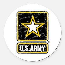 US Army Vintage Round Car Magnet