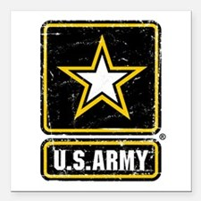 "US Army Vintage Square Car Magnet 3"" x 3"""