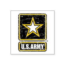 "US Army Vintage Square Sticker 3"" x 3"""