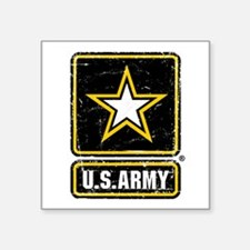 "US Army Vintage Square Sticker 3"" x 3"""