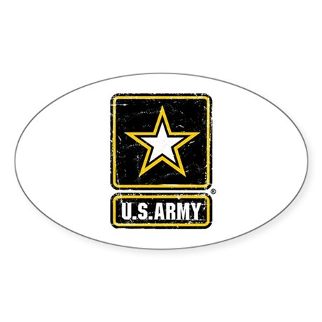 US Army Vintage Sticker (Oval)