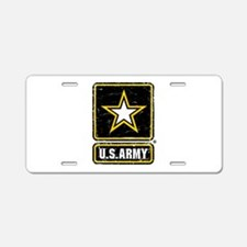 US Army Vintage Aluminum License Plate