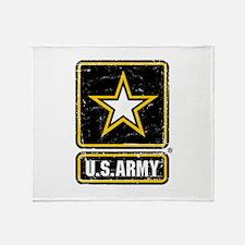 US Army Vintage Throw Blanket