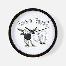 Love Ewe Wall Clock