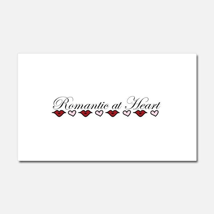 Romantic At Heart Car Magnet 20 x 12