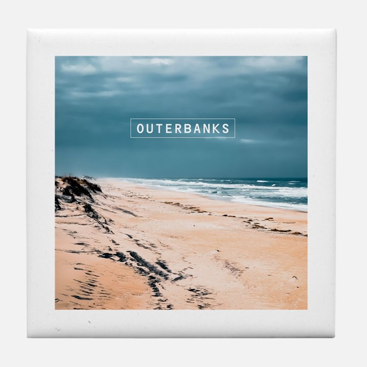 The Outer Banks. Tile Coaster