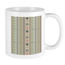 Collage of Currency Graphic Mugs