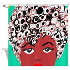Sadie, the girl with the curls Shower Curtain