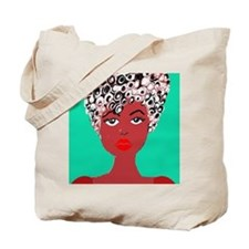 Sadie, the girl with the curls Tote Bag