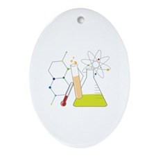 Chemistry Stuff Ornament (Oval)