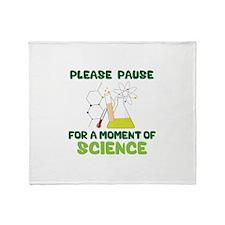 Please Pause Throw Blanket
