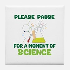 Please Pause Tile Coaster