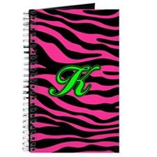 HOT PINK ZEBRA GREEN K Journal