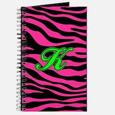HOT PINK ZEBRA GREEN K Journal
