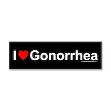 Gonorrhea Car Magnet 10 x 3
