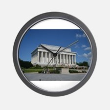 Lincoln Memorial from Base Wall Clock