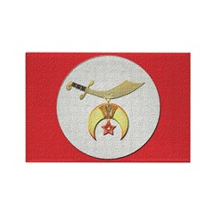 Shriners canvas look Rectangle Magnet