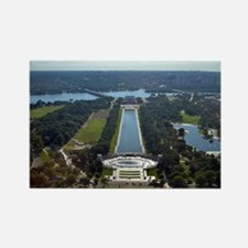 Lincoln Memorial - Pool - WWII memorial Magnets