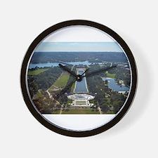 Lincoln Memorial - Pool - WWII memorial Wall Clock