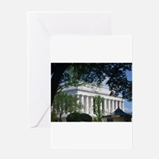 Lincoln Memorial through Trees Greeting Cards