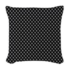 Silver Meeple Pattern Woven Throw Pillow