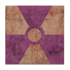 Distressed Radiation Symbol Tile Coaster