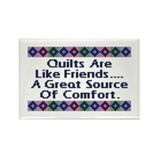 Quilts ... Friends Rectangle Magnet
