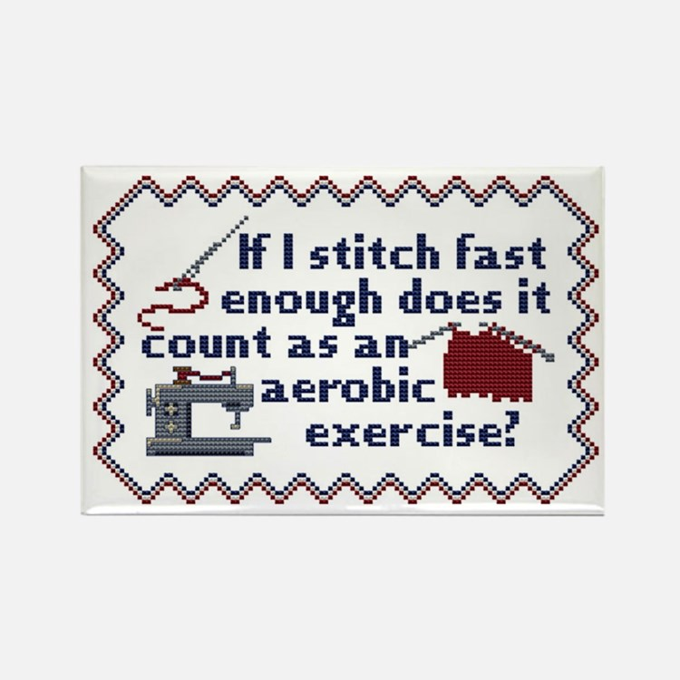 STITCH FAST ENOUGH Rectangle Magnet