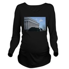 Lincoln Memorial Long Sleeve Maternity T-Shirt
