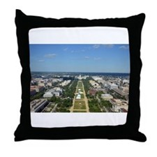 Capitol from top of Washington Monument Throw Pill