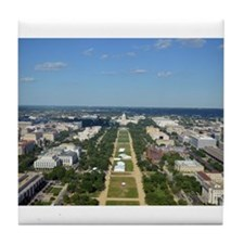 Capitol from top of Washington Monument Tile Coast