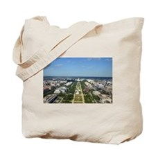 Capitol from top of Washington Monument Tote Bag