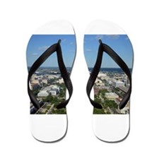 Capitol from top of Washington Monument Flip Flops