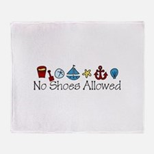 No Shoes Allowed Throw Blanket