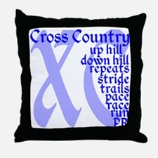 Cross Country XC blue Throw Pillow