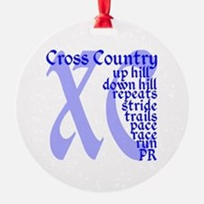 Cross Country XC blue Ornament
