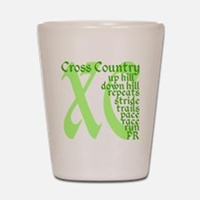 Cross Country XC green Shot Glass