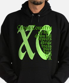 Cross Country XC green Hoodie