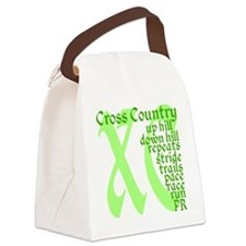 Cross Country XC green Canvas Lunch Bag