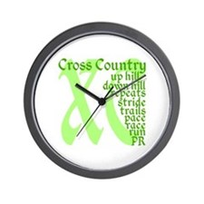 Cross Country XC green Wall Clock