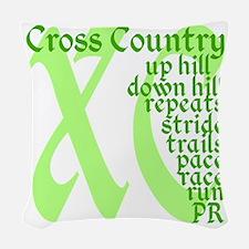 Cross Country XC green Woven Throw Pillow